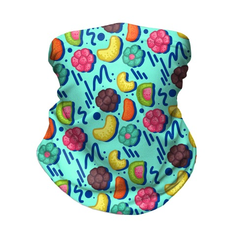 90's Cereal Pattern Neck Gaiter