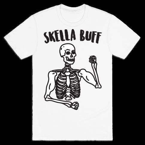 Skella Buff Skeleton Mens/Unisex T-Shirt