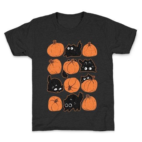 Pumpkin Cats Kids T-Shirt