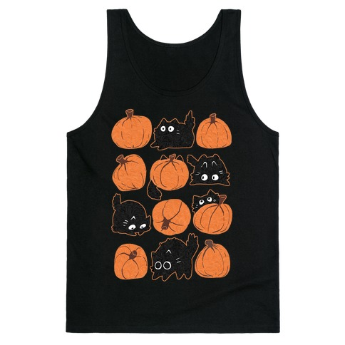 Pumpkin Cats Tank Top