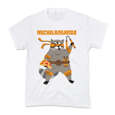 Michelangarbo (Michelangelo Raccoon) Kids T-Shirt