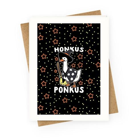 Honkus Ponkus Greeting Card