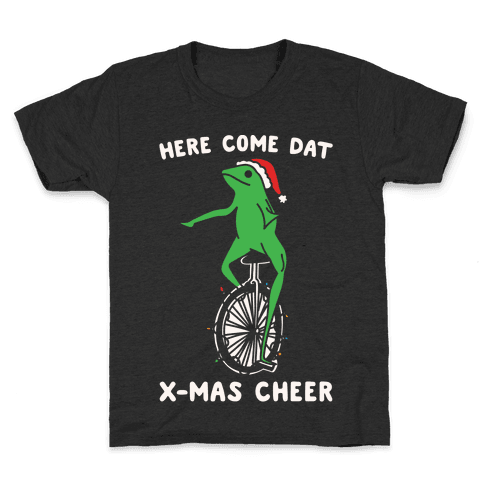 Here Come Dat X-mas Cheer White Print Kids T-Shirt