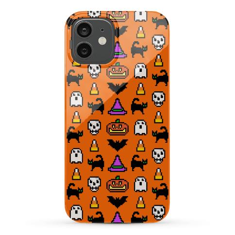 Pixel Halloween Pattern Phone Case