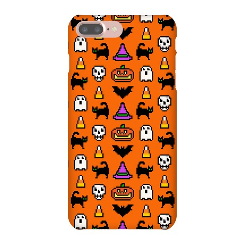 Pixel Halloween Pattern Phone Case