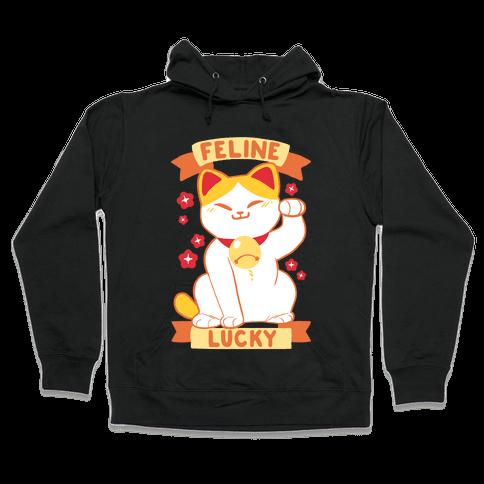 Feline Lucky Hooded Sweatshirt