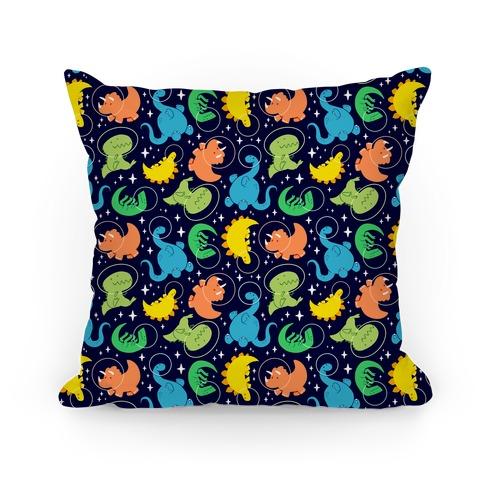 Space Dinos Pillow