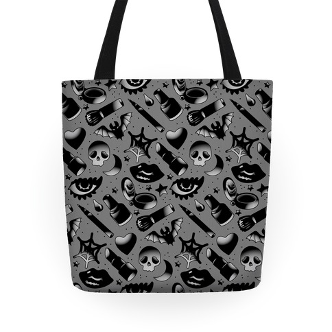 Goth Makeup Pattern Tote