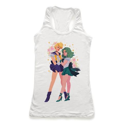 Sailor Neptune & Sailor Uranus Racerback Tank Top