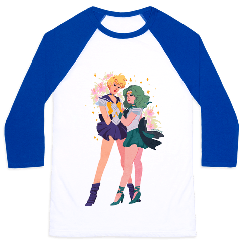 Sailor Neptune & Sailor Uranus Baseball Tee