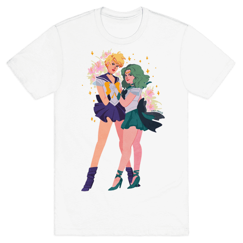 Sailor Neptune & Sailor Uranus Mens T-Shirt