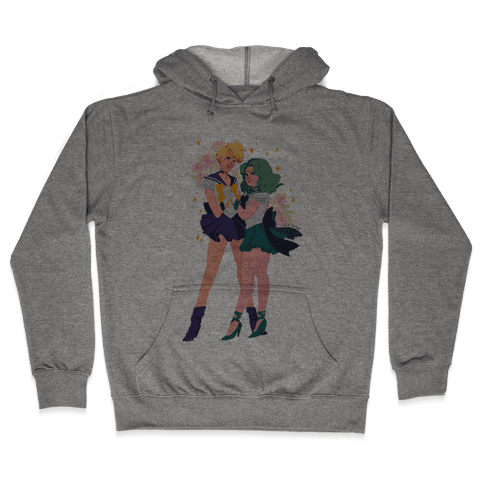 Sailor Neptune & Sailor Uranus Hooded Sweatshirt