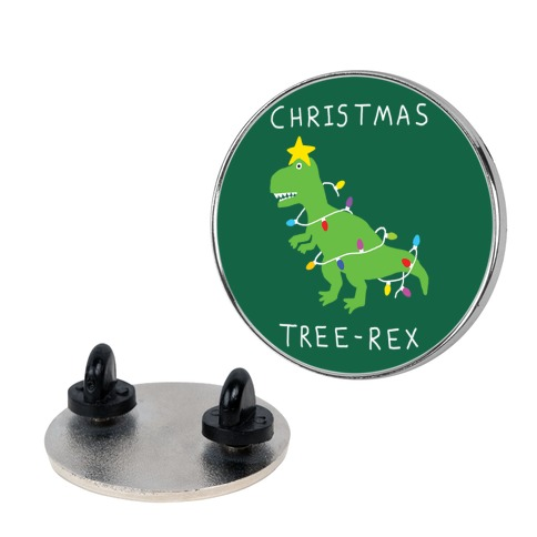 Christmas Tree Rex pin