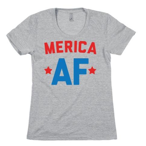 Merica AF Womens T-Shirt