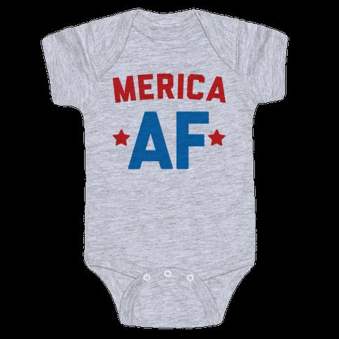 Merica AF Baby Onesy