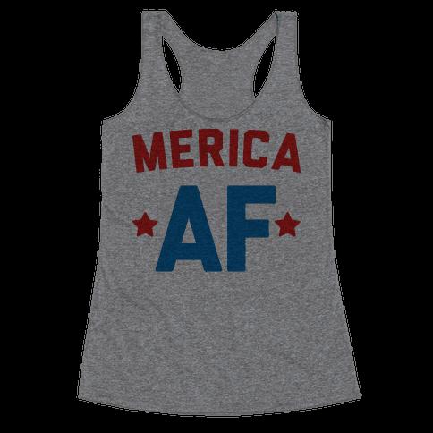 Merica AF Racerback Tank Top