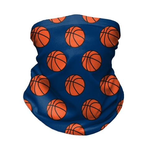 Basketball Pattern Neck Gaiter