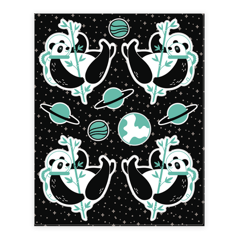 Space Panda Sticker/Decal Sheet