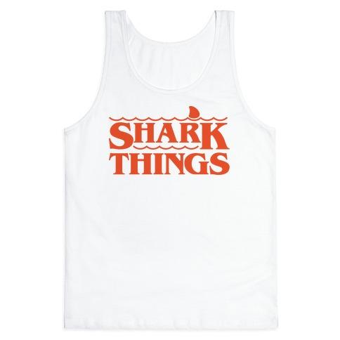 Shark Things Parody Tank Top
