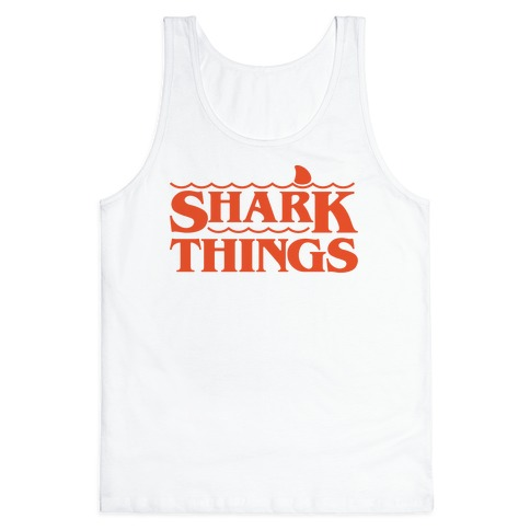 Shark Things Parody Tank Top