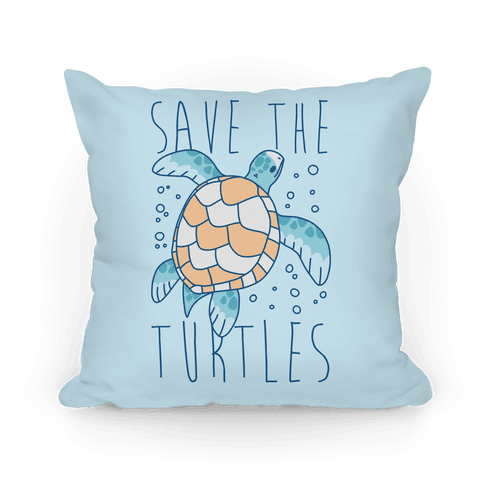 Save the Turtles Pillow