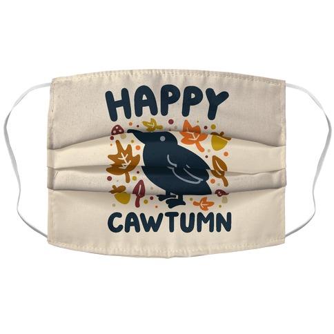 Happy Cawtumn Crow Parody Accordion Face Mask