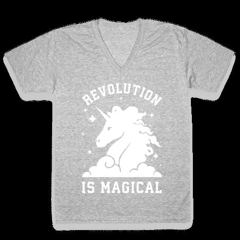 Revolution is Magic V-Neck Tee Shirt