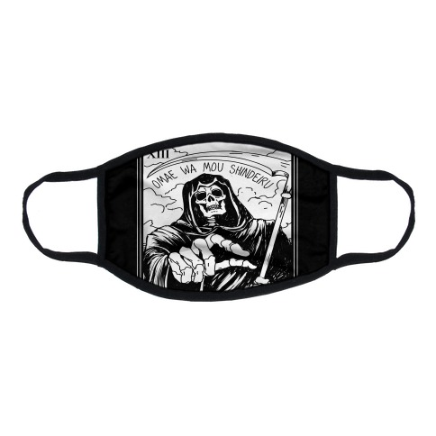 Omae Wa Mou Shindeiru Death Tarot Card Flat Face Mask