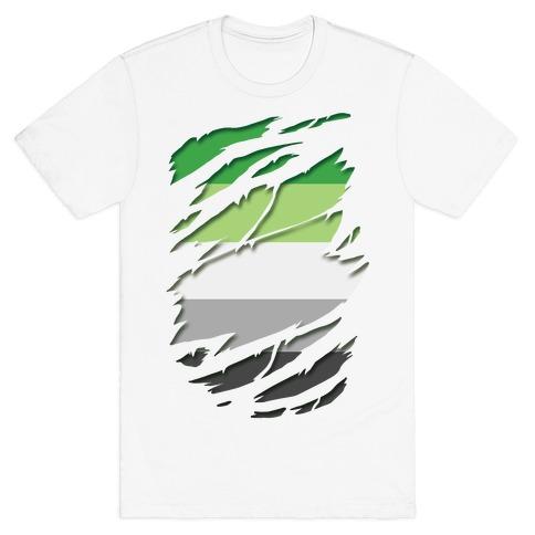 Ripped Shirt: Aromantic Pride T-Shirt