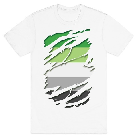 Ripped Shirt: Aromantic Pride T-Shirt