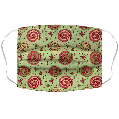 Christmas Pinwheel Cookies Accordion Face Mask