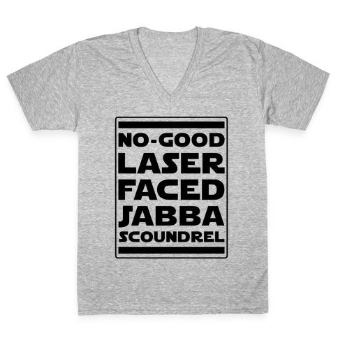 No-GoodLaser Faced Jabba Scoundrel V-Neck Tee Shirt