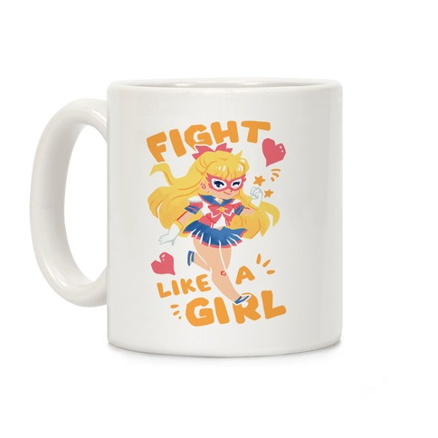 Fight Like A Girl: Sailor Venus Coffee Mug