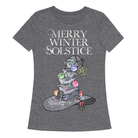 Merry Winter Solstice Womens T-Shirt