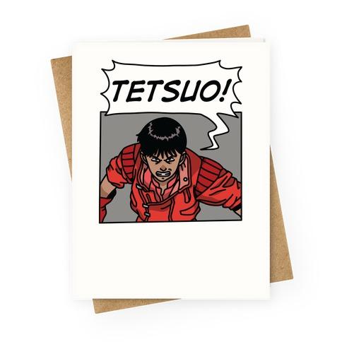 Kaneda Screaming Tetsuo (1 OF 2 PAIR) Greeting Card