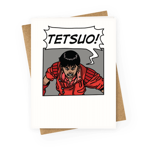 Kaneda Screaming Tetsuo (1 OF 2 PAIR) Greeting Card