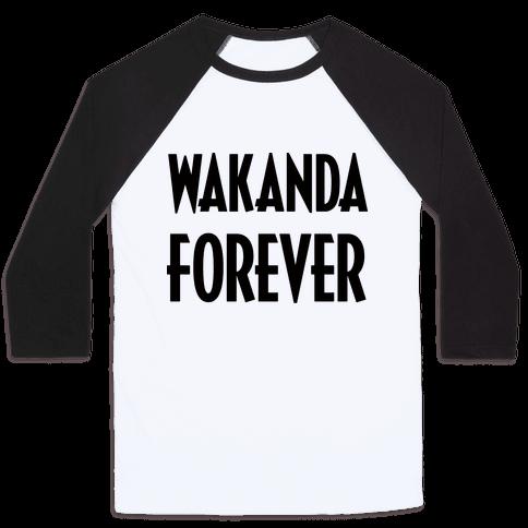 Wakanda Forever Baseball Tee