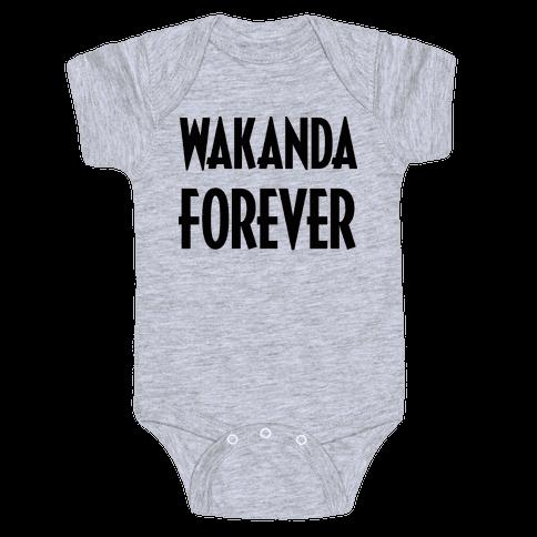 Wakanda Forever Baby Onesy