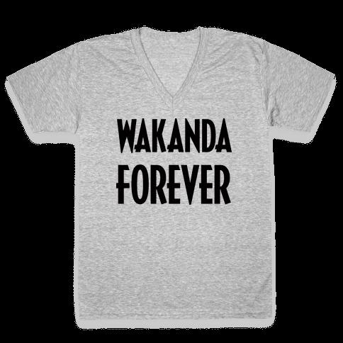 Wakanda Forever V-Neck Tee Shirt