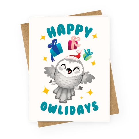 Happy Owlidays! Greeting Card