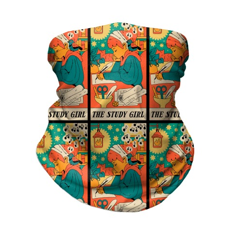 The Study Girl Tarot Card Neck Gaiter