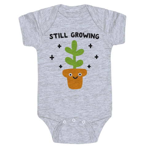 Still Growing Plant Baby Onesy