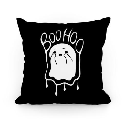 Boo Hoo Sad Ghost Pillow