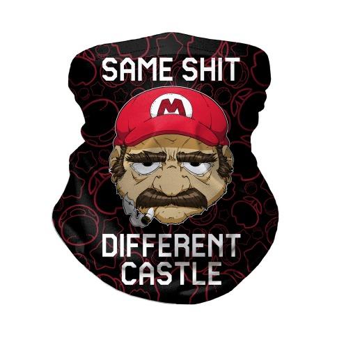 Same Shit Different Castle Neck Gaiter