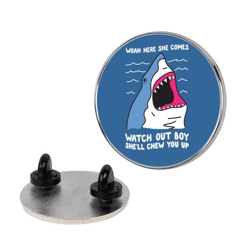 Maneater Shark Pin