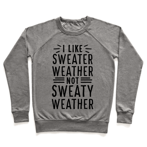I Like Sweater Weather, Not Sweaty Weather Pullover