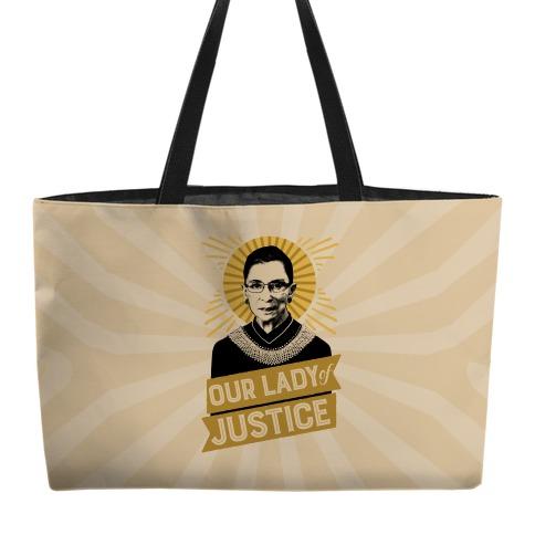 RBG: Our Lady Of Justice Weekender Tote