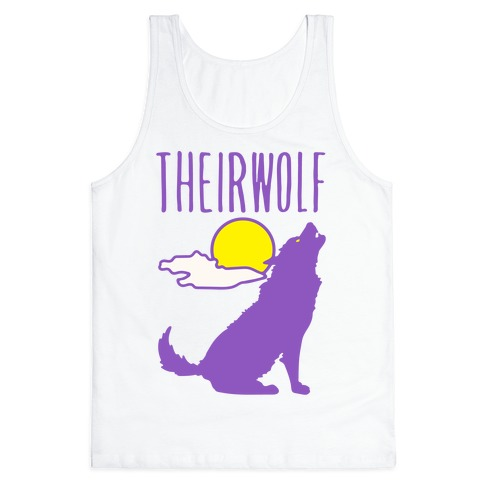 Their-Wolf Non-Binary Werewolf Parody Tank Top