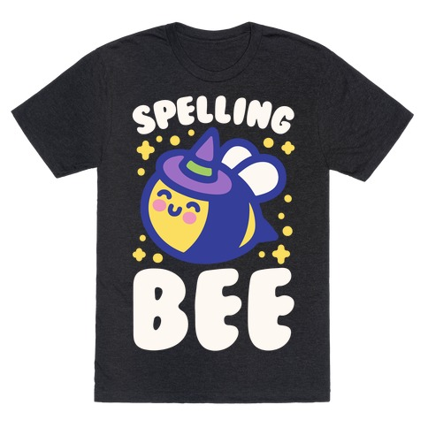 Spelling Bee White Print T-Shirt