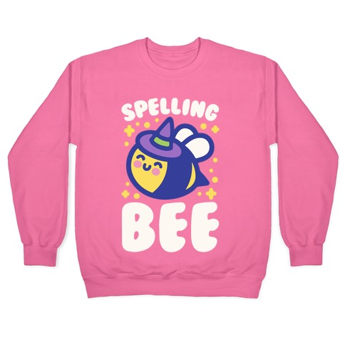 Spelling Bee White Print Pullover